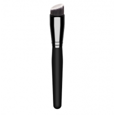 Lomancy beauty tools Europe and the United States market white black rayon makeup brush black wooden handle foundation brush